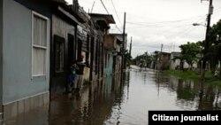 Inundaciones en Sagua La Grande. Mayo 4 de 2014. Fotos Didier Martínez.