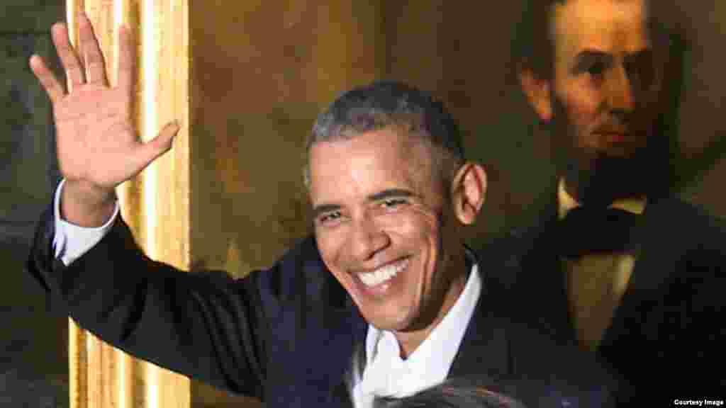 Obama en La Habana Vieja.