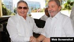 Lula da Silva junto a Raúl Castro, durante su visita a La Habana en febrero de 2014. (Ricardo Stuckert/Instituto Lula)