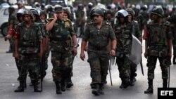 Soldados egipcios.