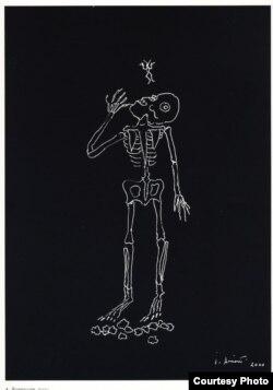 Esqueleto, por Juan Soriano. Cortesía de Marek Keller