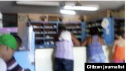 Reporta Cuba. Farmacia en Santiago de Cuba. Foto: @Jabueno.