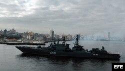 """En el 2008 el cazasubmarinos de la armada rusa """"Almirante Chabanenko"""", entró en la bahía de La Habana (Cuba)."""