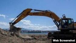 Obras en construcción Puerto de Santiago de Cuba