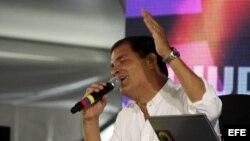 El presidente de Ecuador, Rafael Correa, de viaje a EE.UU.