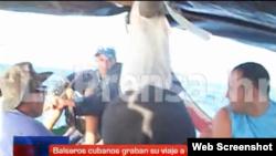 Balseros cubanos rescatados en Honduras