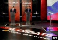 Debate televisado de los dos candidatos por la presidencia de Colombia
