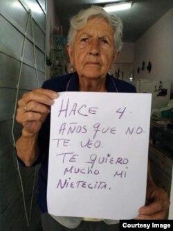 Abuela de doctora cubana espera que Gobierno cubano le permita la entrada a la isla.
