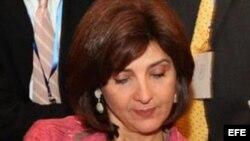 La canciller colombiana, María Ángela Holguín. EFE/Andrés Cristaldo