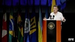 El presidente de Colombia Juan Manuel Santos. Archivo.