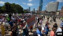 Imágenes de la marcha en Boston.
