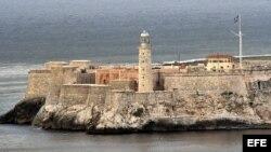 """El """"Castillo de los tres Reyes"""", ciudad Habana."""