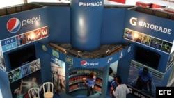 El stand de Pepsi en la Feria Internacional de La Habana.