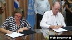 Onu y Cuba acuerdo de cooperación