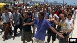 Ciudadanos en Sagua La Grande protestan ante acción policial contra opositores