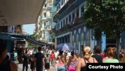 Bulevar de San Rafael en La Habana.