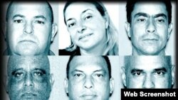 Dora Robaina (arriba, al centro) es parte de un caso puesto al descubierto en abril pasado.