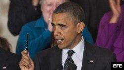 El presidente estadounidense, Barack Obama, ofrece la primera rueda de prensa en la Casa Blanca tras haber ganado la reelección.