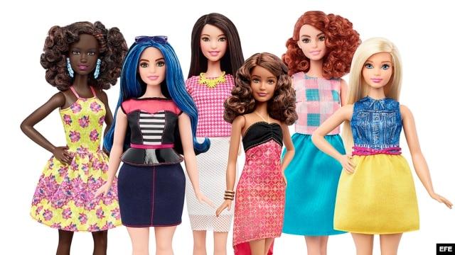 Varias de las nuevas muñecas Barbie lanzadas por la compañía Mattel.