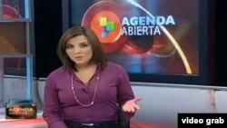 """El programa """"Agenda Abierta"""" de TeleSur."""