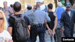 Acto de repudio y arrestos en Perico Matanzas