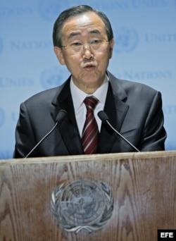 Fotografía de archivo del secretario general de la ONU, Ban Ki-moon.