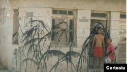 Casa de Licet Zamora en Santa Clara luego de un acto de repudio
