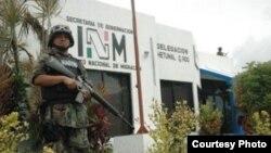 La estación migratoria de Chetumal, Quintana Roo, contigua a las instalaciones de la Policía Federal.