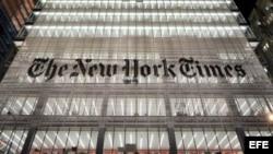 Vista del edificio sede del New York Times en Nueva York (EEUU). EFE/JUSTIN LANE