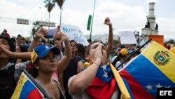 Marcha por liberación de estudiantes detenidos en Venezuela