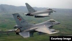 F-16 de las fuerzas aéreas de Turquía.