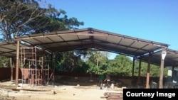 """Destruido lugar de oración de la Iglesia """"Fuego y Dinámica"""" en Camagüey."""