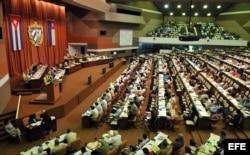 Una sesión plenaria de la Asamblea Nacional en el Palacio de las Convenciones.