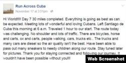 Alexis García utiliza Facebook como una bitácora de viaje.