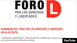 Reporta Cuba Las demandas ciudadanas que distribuyen los activistas junto a las fotos de los presos políticos