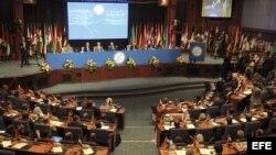 Vista general de la ceremonia de apertura de la conferencia ministerial de Movimiento de Países No Alineados (NOAL).