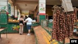 Agromercado en La Habana. (Archivo)