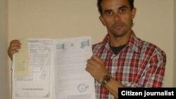Reporta Cuba. Yoirvis Bravo expone su situación. Foto: Yiorvis Bravo.