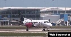 Avión de la aerolínea Silver Airways.