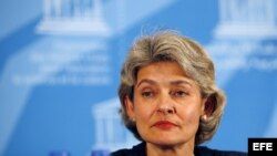 Irina Bokova, máxima representante de la UNESCO.