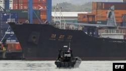 Vista del barco norcoreano Chong Chon Gang. Foto de archivo