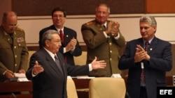 Raúl Castro en la Asamblea Nacional, en La Habana.