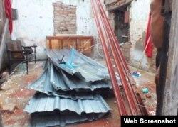 Tornado en Centro Histórico de Camagüey deja daños en casas. Foto Radio Cadena Agramonte
