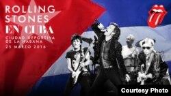 Foto del anuncio del concierto en Cuba en la web oficial de los Rolling Stones