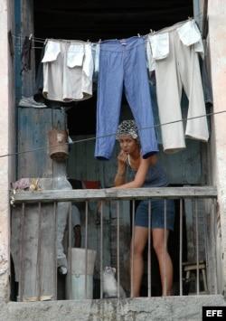 Mujer cubana en Santiago de Cuba