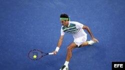 Roger Federer en el Abierto de tenis de Australia.