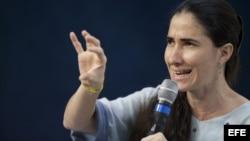 La disidente cubana Yoani Sánchez (foto de archivo)
