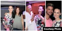 Katy Perry junto a Mariela Castro, el salsero cubano Isaac Delgado y otros invitados a una fiesta privada en La Habana.
