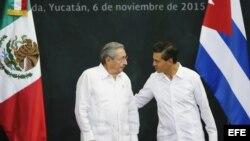 Raúl Castro en visita oficial a México