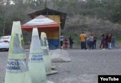 Paso fronterizo de Agua Caliente entre Honduras y Guatemala, paso regular de los cubanos que buscasn llegar a EE.UU.
